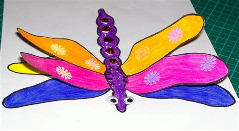 dragonfly crafts for 3d dragonfly craft craft n home