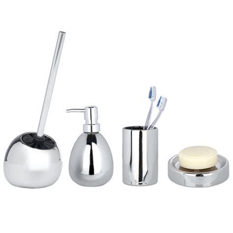 chrome bathroom accessories sets wenko polaris ceramic bathroom accessories set chrome at