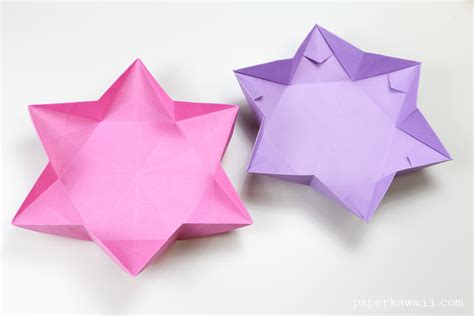 origami with hexagonal origami dish bowl paper kawaii