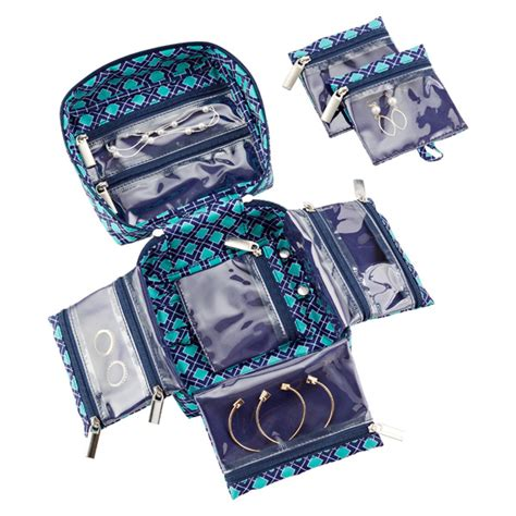 how to make jewelry bags navy aqua tile in bag large jewelry organizer the