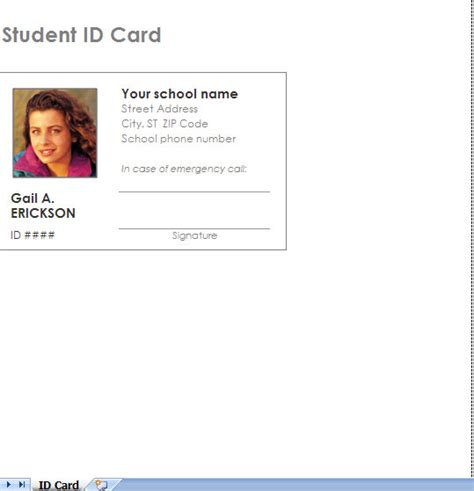 make a student id card 6 best images of printable id card templates printable