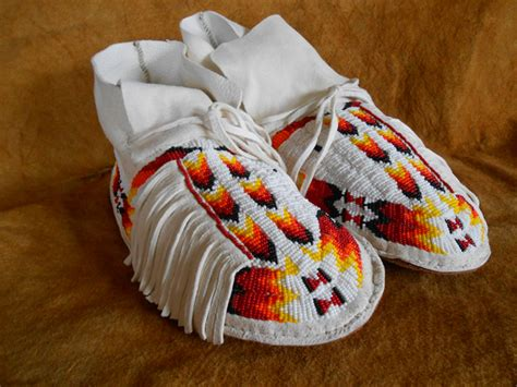 mens beaded moccasins custer battlefield trading post american