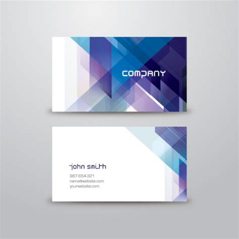 business card free abstract business card template vector free