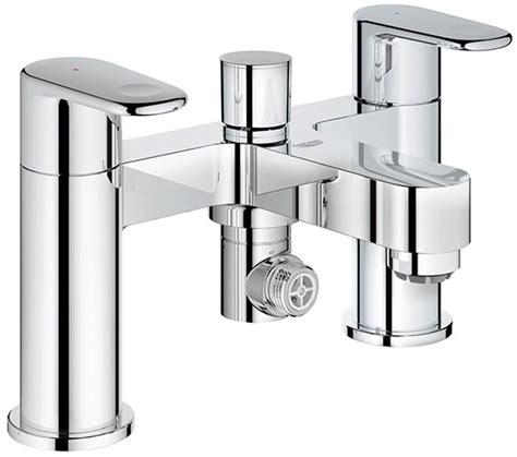 grohe bath shower mixer taps grohe europlus deck mounted bath shower mixer tap