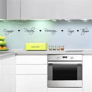 stickers for kitchen walls herb names kitchen wall decal kitchen wall sticker