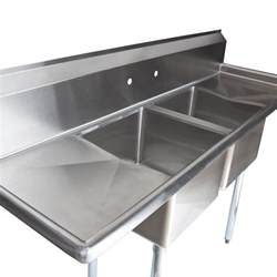stainless steel commercial kitchen sinks regency 72 quot 16 stainless steel two compartment