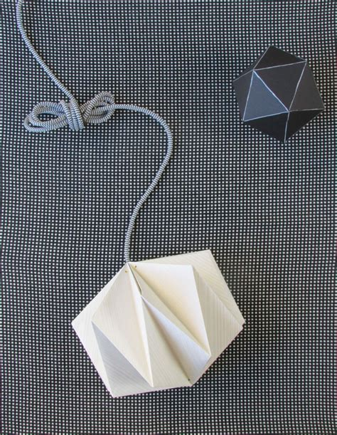 origami lantern origami lshade made from wallpaper