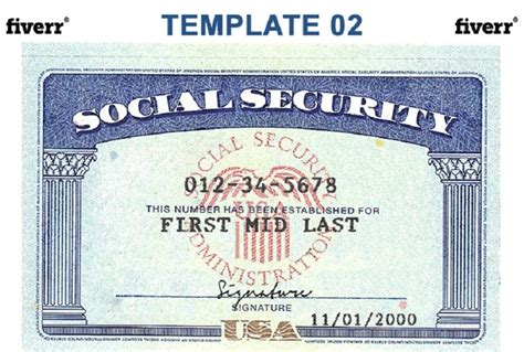 make social security card make a novelty social security card fiverr
