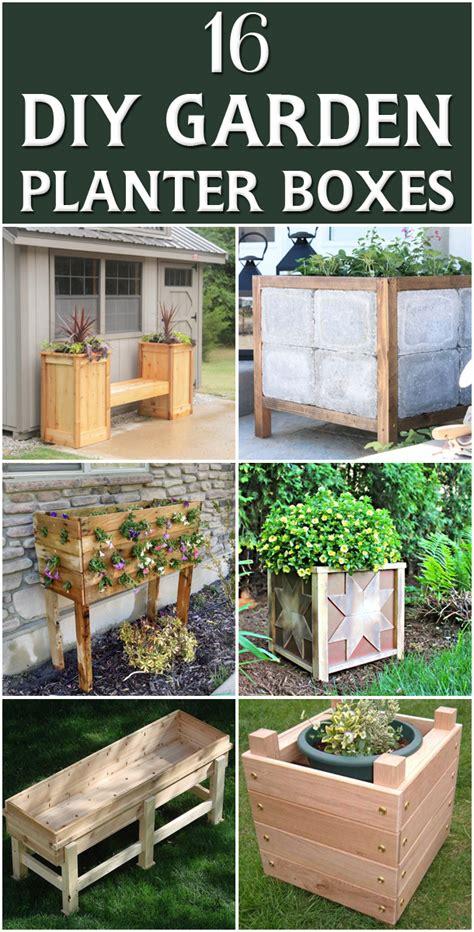 diy vegetable garden boxes 16 outstanding diy garden planter boxes