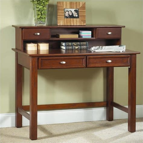 cherry student desk furniture hanover wood student writing desk with hutch in