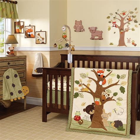 woodland creatures crib bedding lambs and echo nursery collection forest nursery