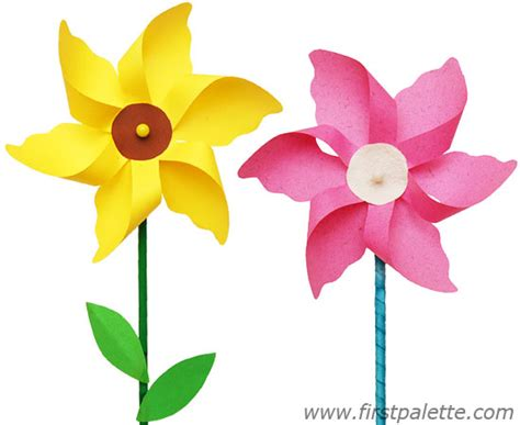 paper flowers for crafting flower pinwheel craft crafts firstpalette