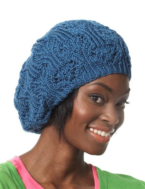 how to knit a beret lace slouchy summer beret allfreeknitting