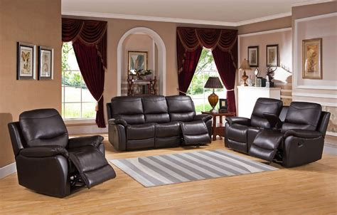 3 reclining sofa 3 pisa top grain leather reclining sofa set