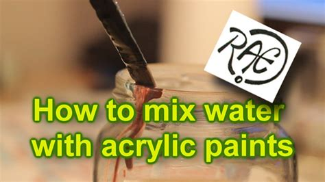 acrylic how to paint how to mix water with acrylic paint tutorial mixing paints