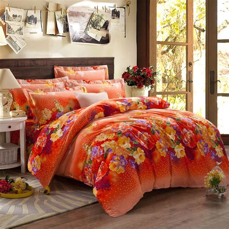 orange comforter sets king 5 pieces king size comforter set quilt duvet set bed