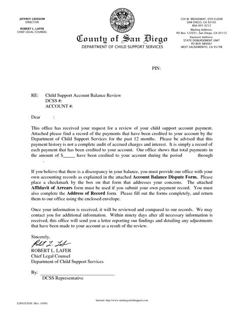 Modification Letter by Best Photos Of Notarized Letter Format For Child Support