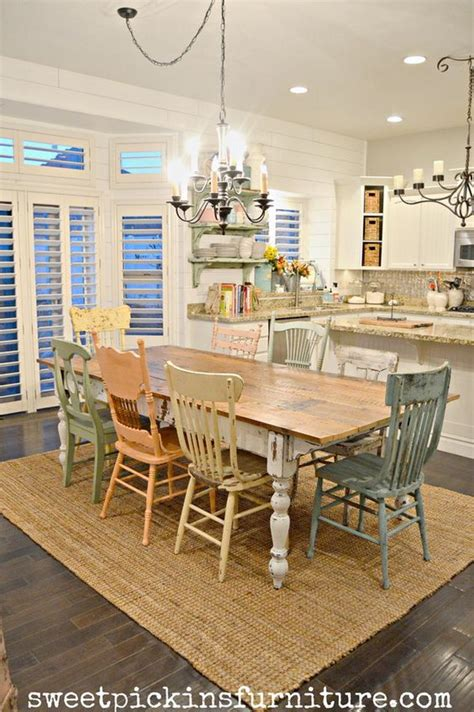 farmhouse dining table and chairs fantistic diy shabby chic furniture ideas tutorials hative