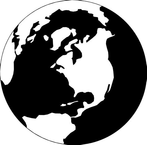 black and white best hd black and white with globe clipart photos