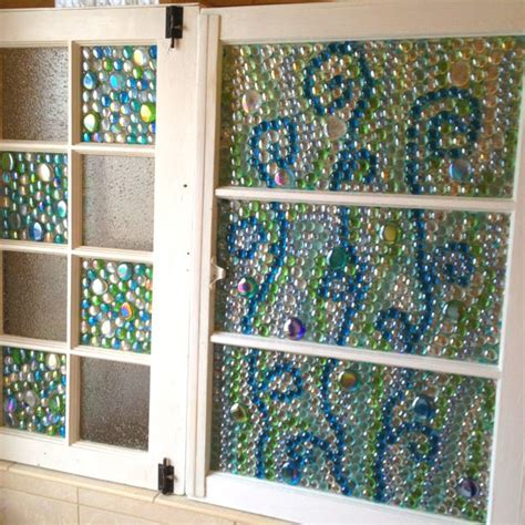 window bead windows with glass glued on with glass glue