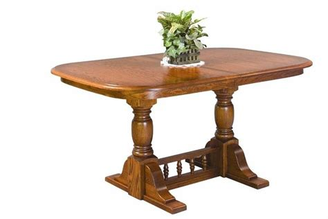 amish dining room tables amish pedestal innkeepers dining room table