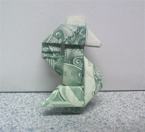 origami sign origami dollar sign by theorigamiarchitect on deviantart