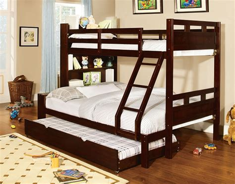 bookcase bunk beds fairfield walnut size bunk bed
