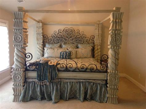 diy chalk paint bed brick mortar design diy chalk painted canopy bed