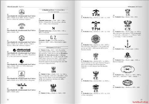 alte thüringer porzellanmarken fachbuch deutsche porzellanmarken 1710 bis heute