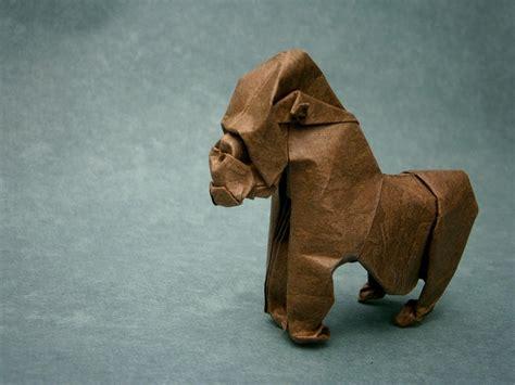 origami gorilla gorilla origami by mitanei on deviantart
