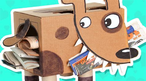 cardboard box crafts for cardboard newspaper puppy craft ideas with boxes diy