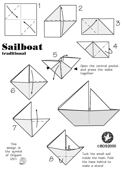origami sail boat bos practical sailboat