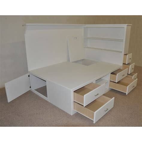 build bed beds with storage underneath drawers shelves