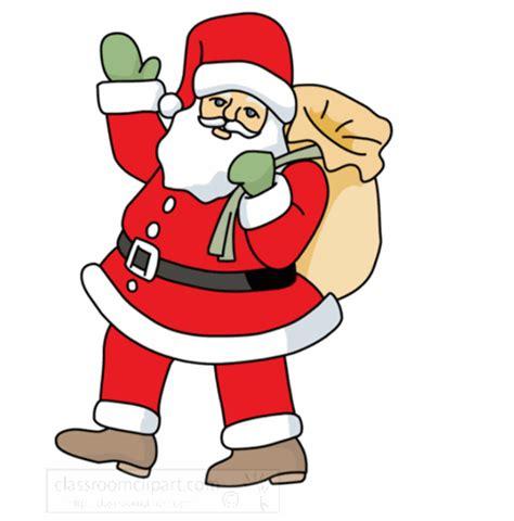 moving santa claus santa animated clipart