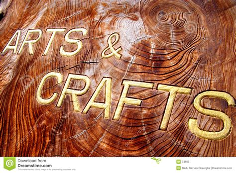 free arts and crafts for arts and crafts inscription stock image image 74609