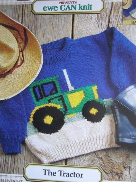free tractor knitting pattern see sally sew patterns for less the tractor knit sweater
