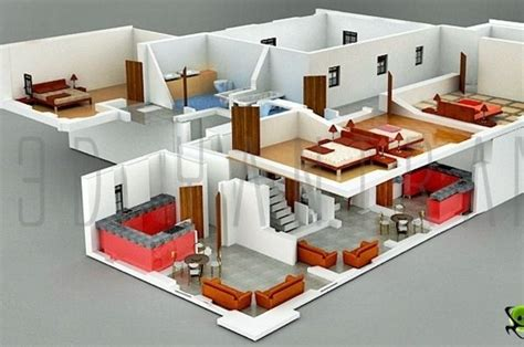 house floor plans with interior photos interior plan houses 3d section plan 3d interior design