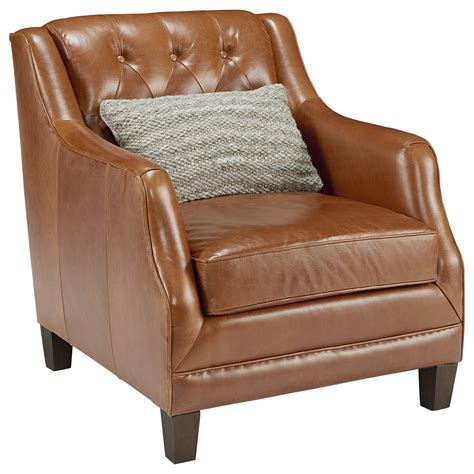 Home Chair by Magnolia Home By Joanna Gaines Gentry Leather Upholstered