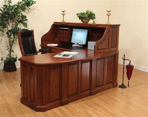 fifth avenue executive amish corner roll top desk