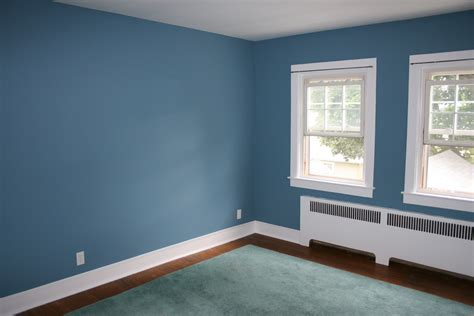 painted rooms my home blue accent wall