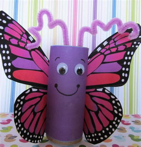 butterfly craft paper 60 animal themed toilet paper roll crafts hative