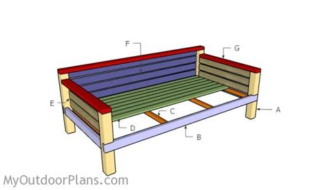 daybed woodworking plans diy daybed plans myoutdoorplans free woodworking plans
