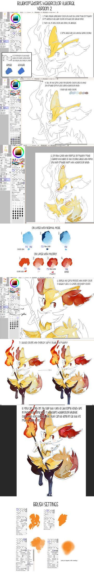 paint tool sai watercolor tutorial 78 best images about paint tool sai brushes on