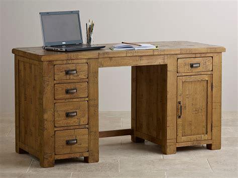 solid oak computer desk ripley sawn solid oak computer desk home office