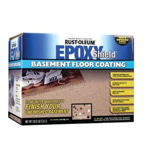 home depot paint kit rust oleum epoxy shield 1 gal basement gray floor coating
