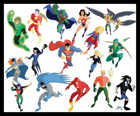 pictures of comic book characters dc comics characters by granamir30 on deviantart