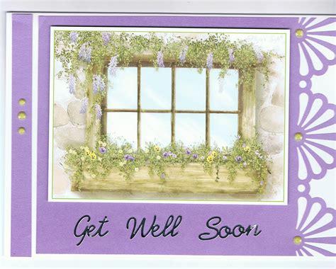get well card cuska card creations get well cards
