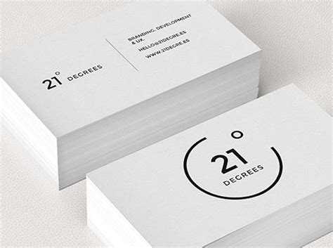 make name cards 75 minimal business cards designs for inspiration