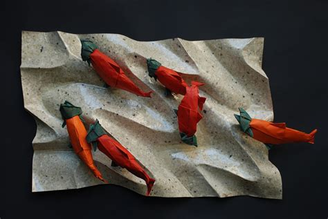 origami salmon canadian themed origami to celebrate canada s 150th birthday