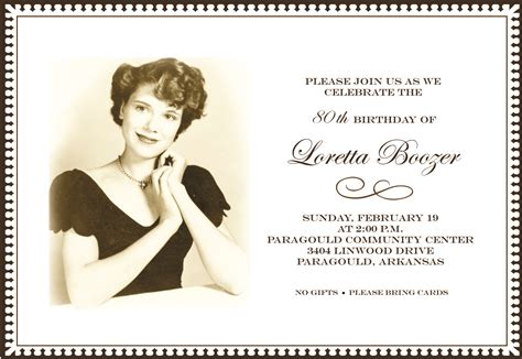 80th birthday party invitations invitation ideas